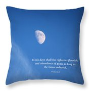 The Moon With A Psalm Throw Pillow