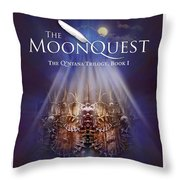 The Moonquest Book Cover Throw Pillow