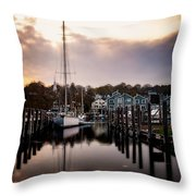 The Mooring Throw Pillow
