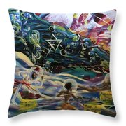 The Moors Of Mu And Ancient America Throw Pillow