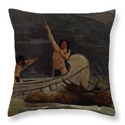 The Moose Chase Throw Pillow