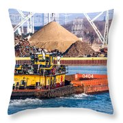The Morgan And Barge Throw Pillow