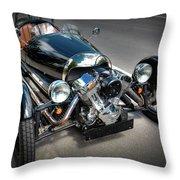The Morgan Three Wheeler Throw Pillow
