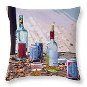 The Morning After The Party Throw Pillow