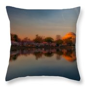 The Morning Glow Throw Pillow