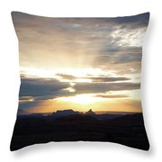 The Morning Streak Throw Pillow
