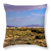 The Morning Train By Route 66 Throw Pillow