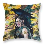 The Morrigan #2 Throw Pillow