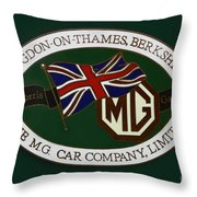 The Morris Garages Throw Pillow