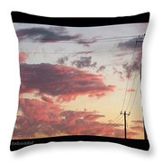 The Most #amazing #sunset Over #austin Throw Pillow