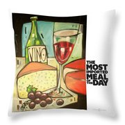 The Most Imported Meal Throw Pillow