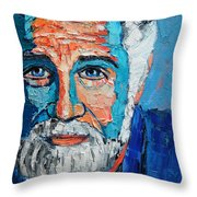 The Most Interesting Man In The World Throw Pillow by Ana Maria Edulescu