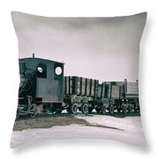 The Most Northern Train? Throw Pillow by James Billings