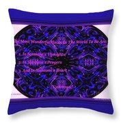 The Most Wonderful Places Throw Pillow