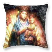 The Mother Of The King Is Queen Throw Pillow