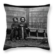 The Mott Street Boys Throw Pillow