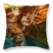 The Mountain Of Our Secrets  Throw Pillow