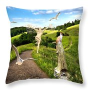 The Mountain Road  1 Throw Pillow