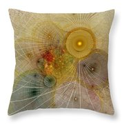 The Mourning Of Persephone - Fractal Art Throw Pillow