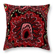 The Mouth Of Hell Throw Pillow