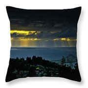 The Mouth Of The Columbia River Throw Pillow