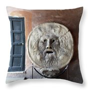 The Mouth Of Truth Throw Pillow