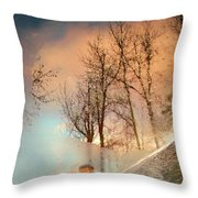The Movement Of Ice Throw Pillow