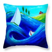 The Moving Ocean Throw Pillow