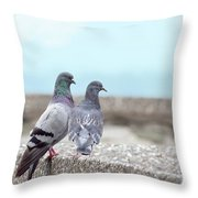 The Mr And Mrs Throw Pillow