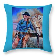 The Mud The Blood And The Bud Throw Pillow