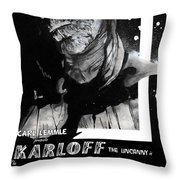 The Mummy 1932 Movie Poster  Throw Pillow