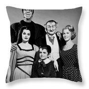 The Munster Family Portrait Throw Pillow