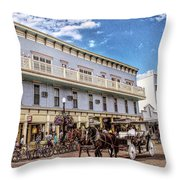 The Murray Hotel At Mackinac Island Throw Pillow