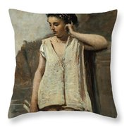 The Muse. History Throw Pillow