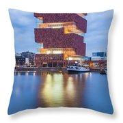 The Museum Aan De Stroom Throw Pillow