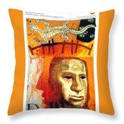 The Museum Of Mankind By Tube - Burlington Gardens - London Underground - Retro Travel Poster Throw Pillow