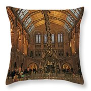 The Museum Of Natural History... London Throw Pillow