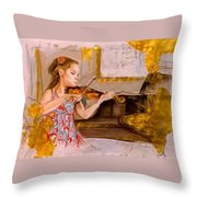 The Music Of Silence Throw Pillow