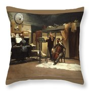 The Musicale, Throw Pillow