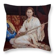 The Musician Throw Pillow