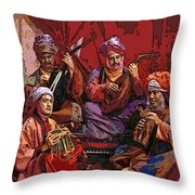 The Musicians Of Hajji Baba Throw Pillow by Eikoni Images