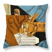 The Musician's Table Throw Pillow