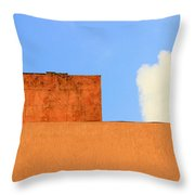 The Muted Cloud Throw Pillow