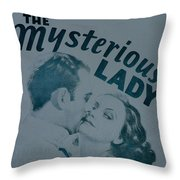 The Mysterious Lady Throw Pillow