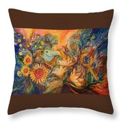 The Mystery Of Orange Tree Throw Pillow