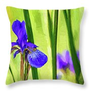The Mystery Of Spring - Paint Throw Pillow
