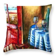 The Mystery Room Throw Pillow