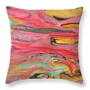 The Mystic Delta Throw Pillow by Julia Apostolova