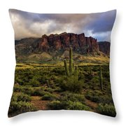 The Mystical Beauty Of The Superstitions  Throw Pillow