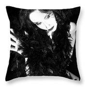 The Mystique - Self Portrait Throw Pillow